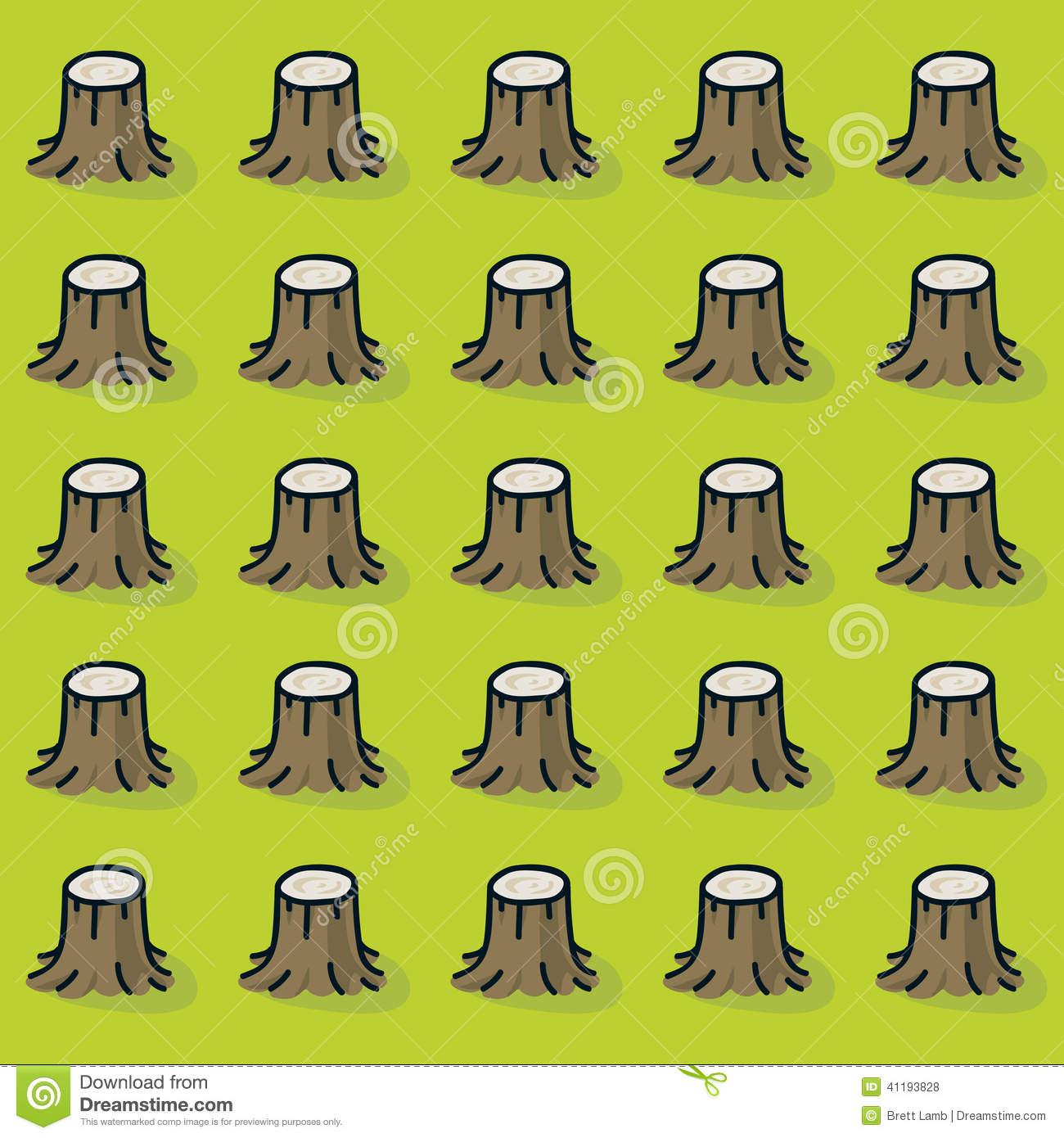 Cut Down Tree Stock Illustrations.