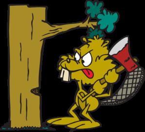 Beaver Cutting Down Tree Clip Art at Clker.com.