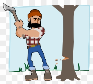 Free PNG Cutting Trees Clip Art Download.