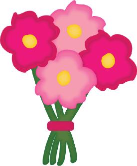 Fresh Cut Flowers Clip Art.