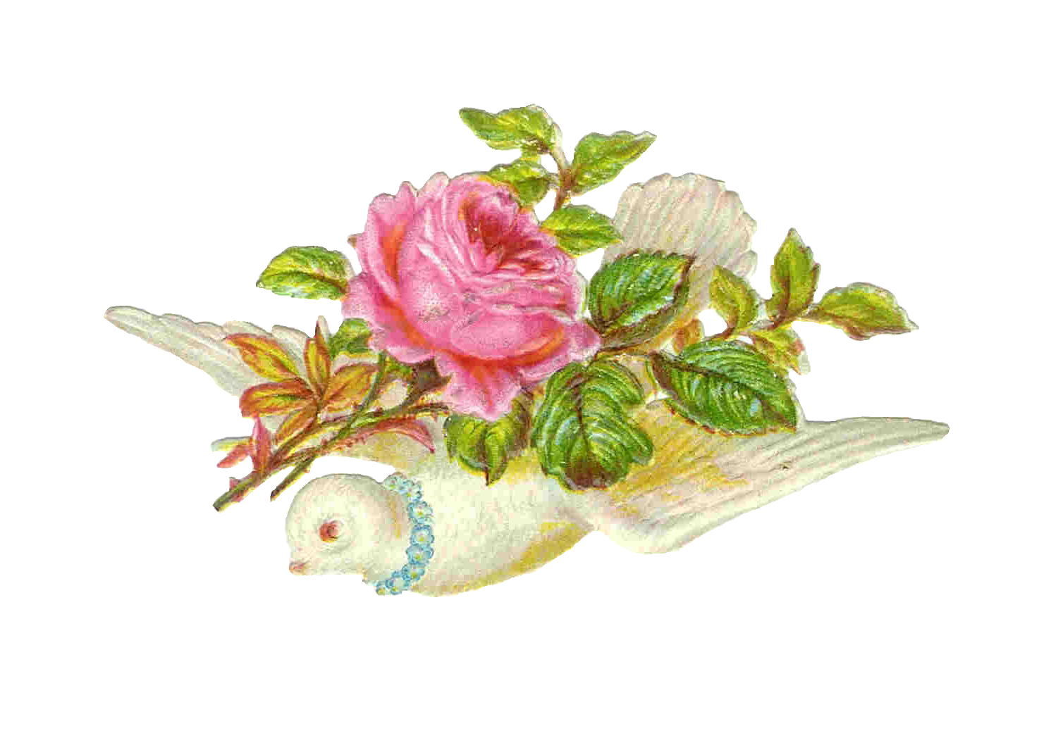Vintage Flowers Religious Clipart.
