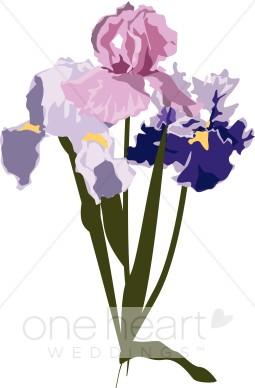 Fresh Cut Flowers Clipart.