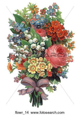 Drawings of Victorian Die Cut Flowers flowr_14.