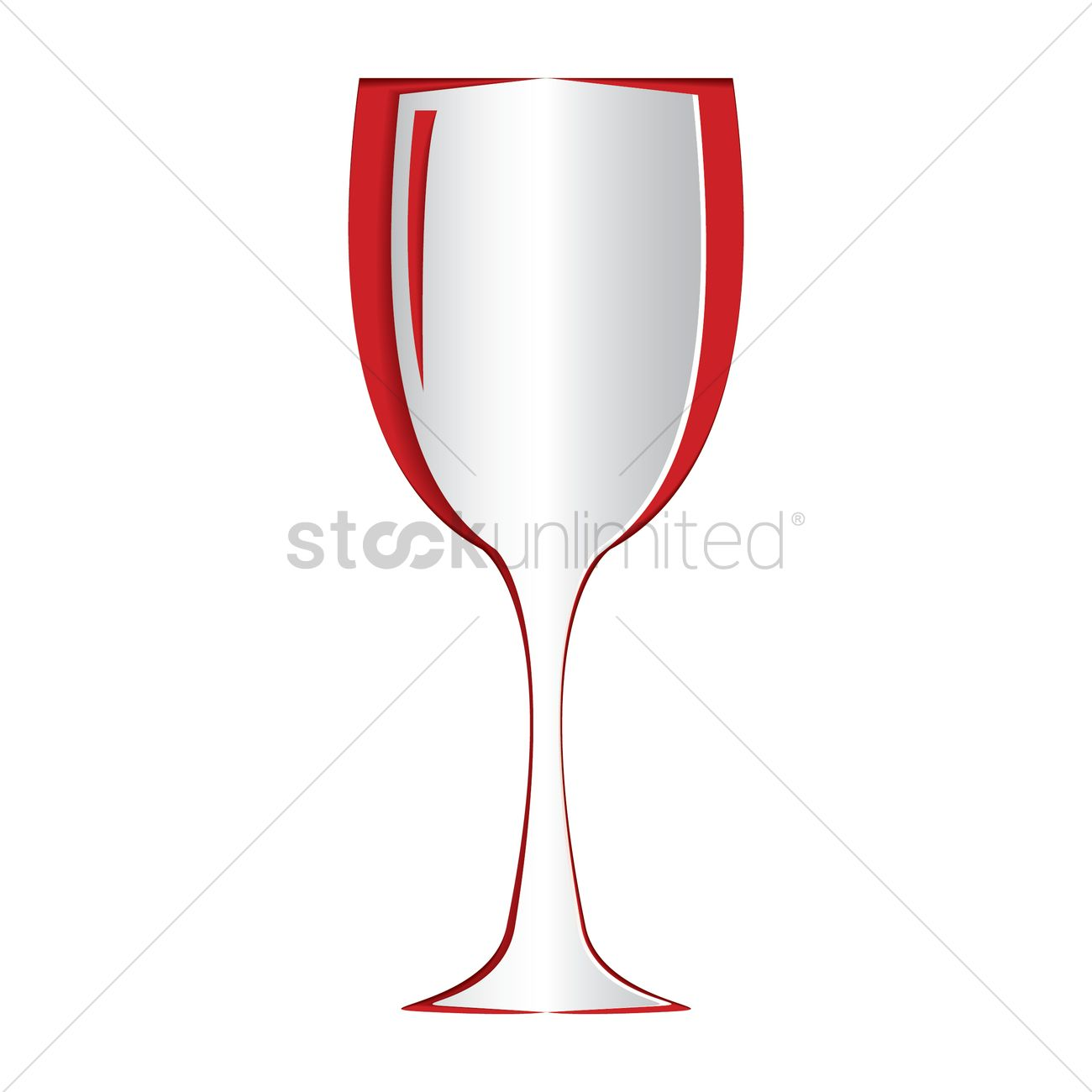 Paper cut out of a wine glass Vector Image.