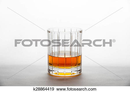 Stock Photograph of Whisky in a Straight.