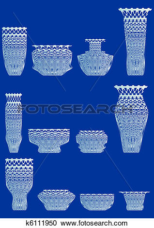 Clipart of Ware from cut glass. k6111950.
