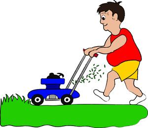 Cutting grass clipart.
