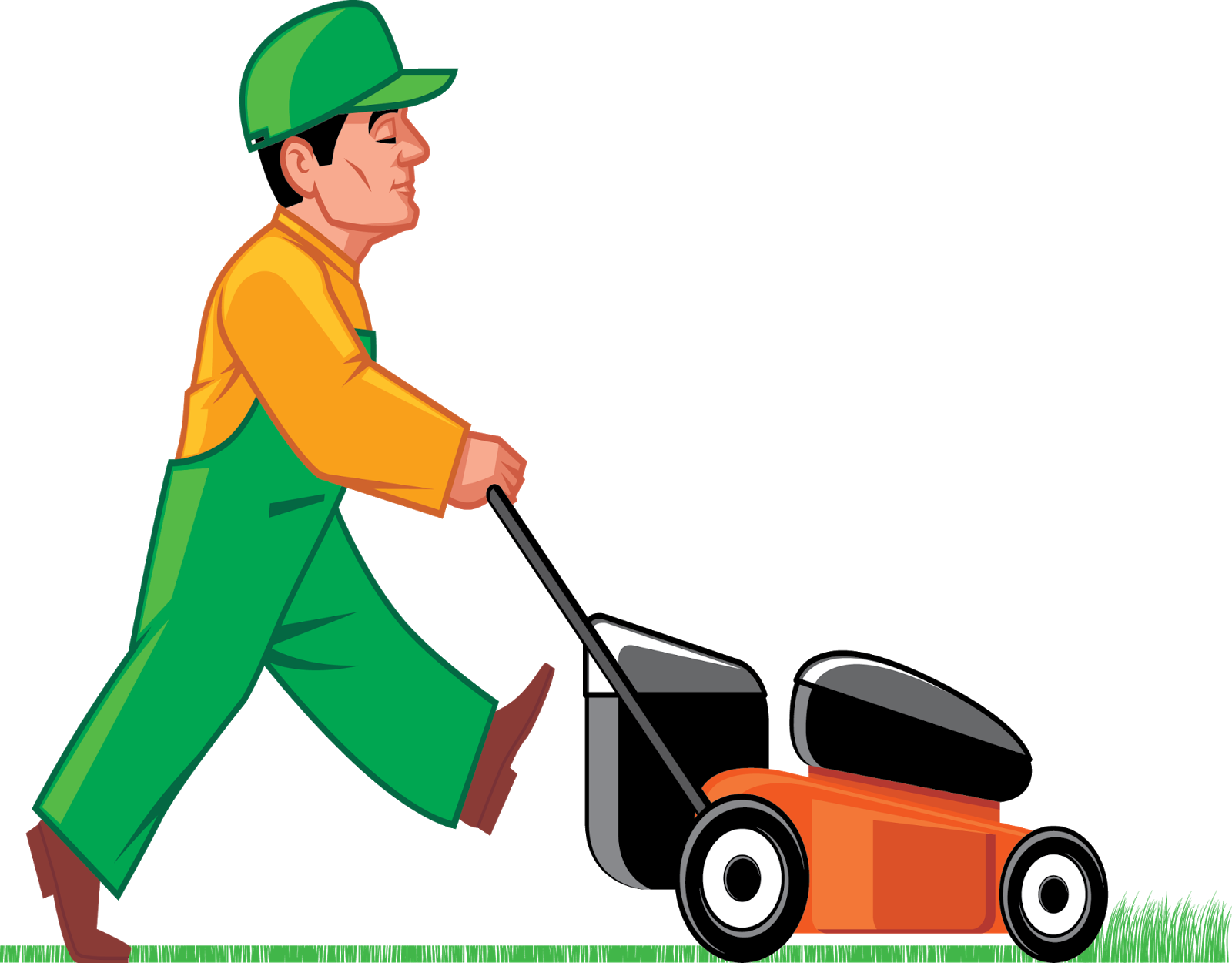 Lawn Cutting Clipart.