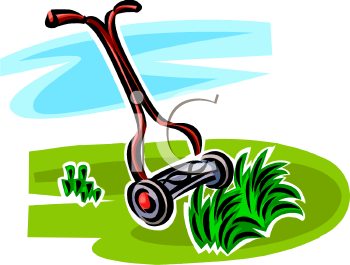 Lawn Cutting Clipart.