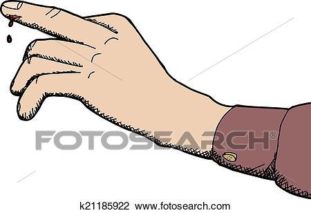 Cut Finger Clipart.