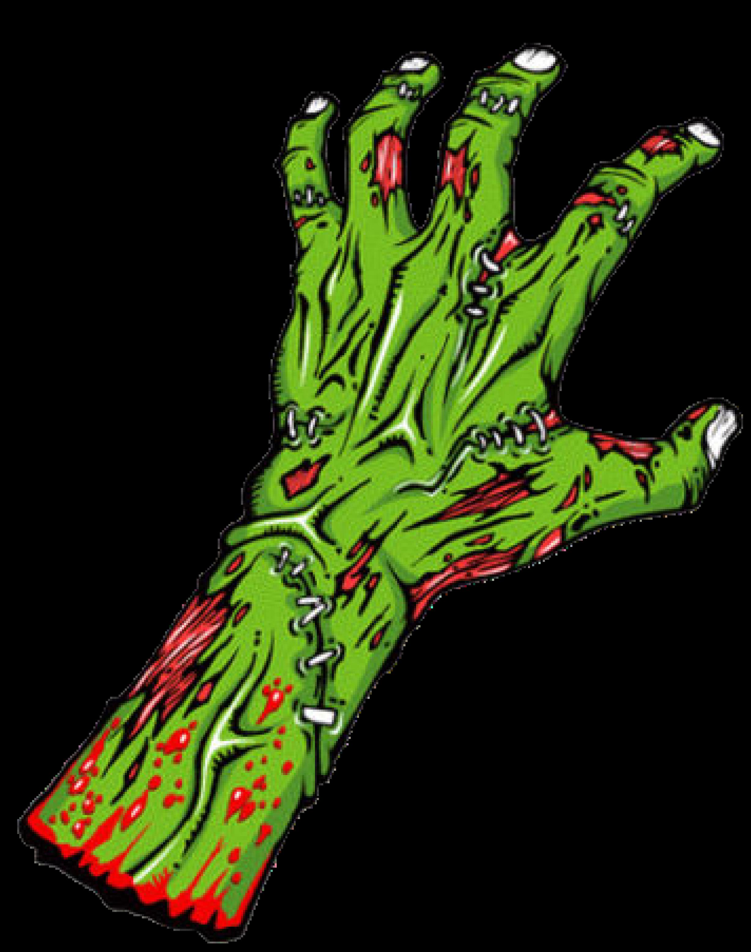 Zombie Hand Cut.