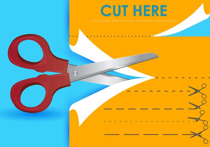 Cut Here With Scissors Templates.