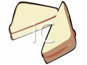 Sandwich Cut In Half.