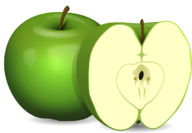 Clipart cut apple.