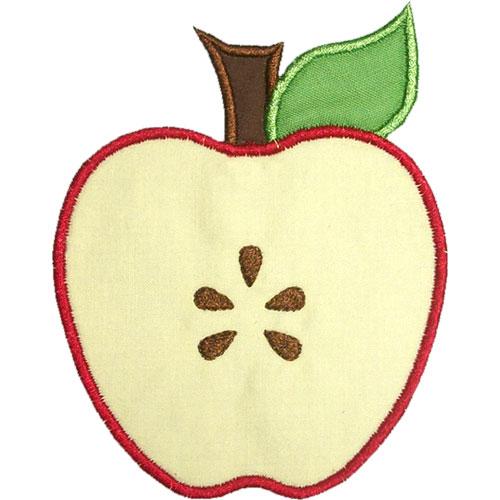 Half Apple Clipart.