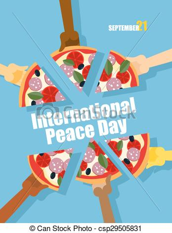 Vectors of Day of Peace. 21 September international holiday.