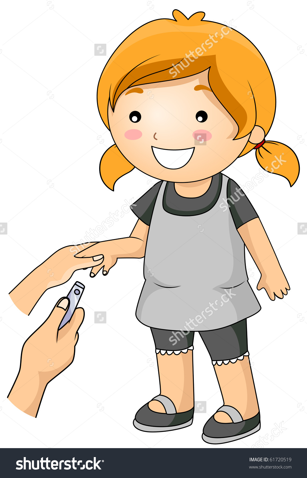 Cut your nails clipart.