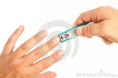 Cutting Finger Nails Stock Photos, Images, & Pictures.