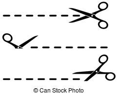 Scissors Dotted Line Clipart.
