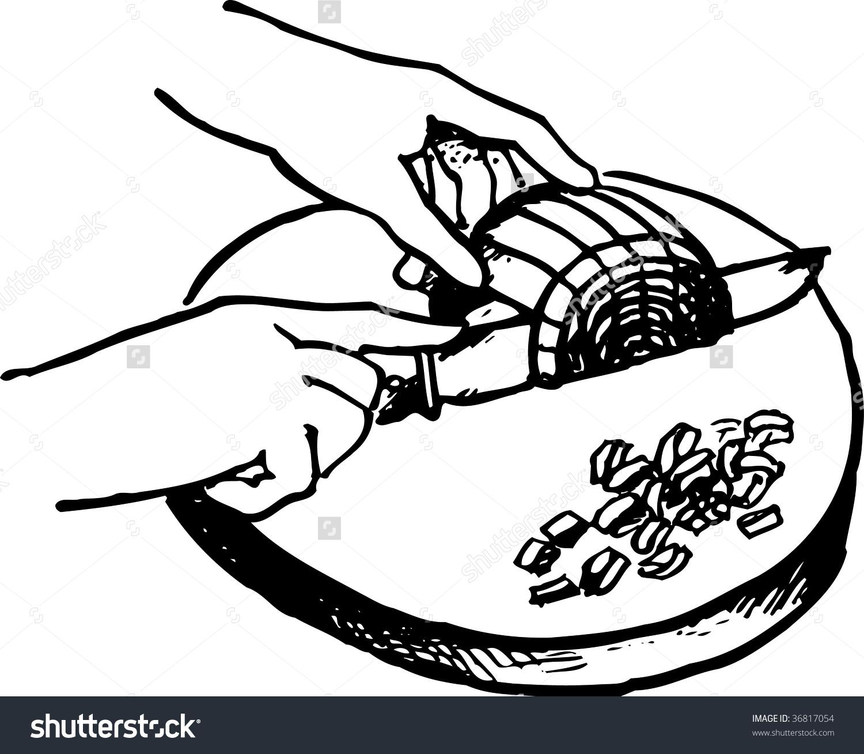 Cutting Onion Stock Vector 36817054.