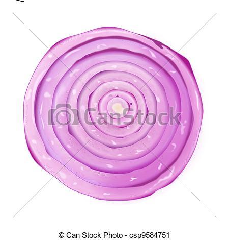 Onion slice clipart.