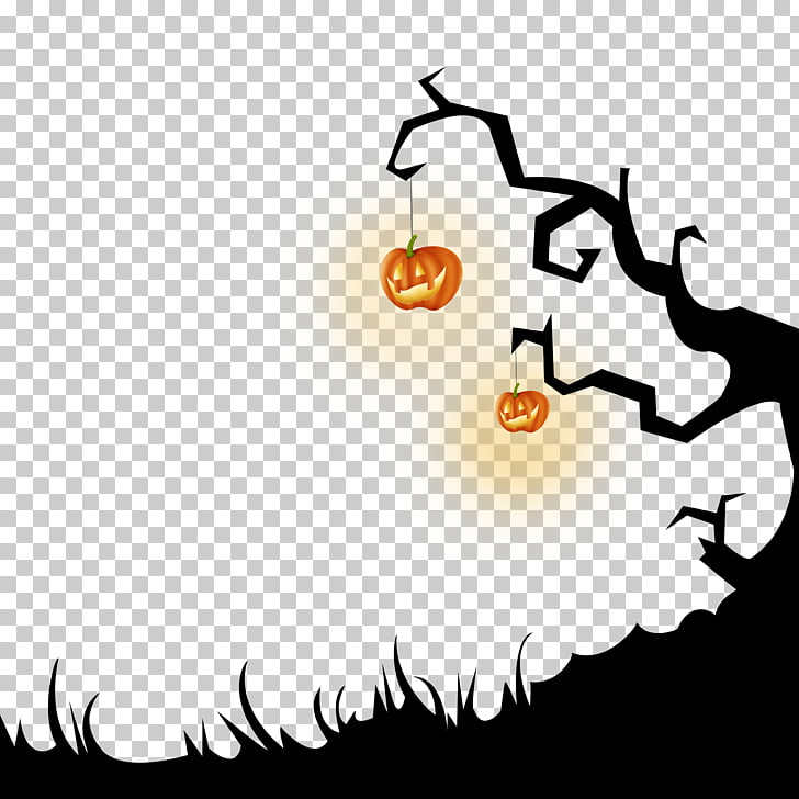 Halloween October 31 , Dead tree Halloween Cutout Free HD.