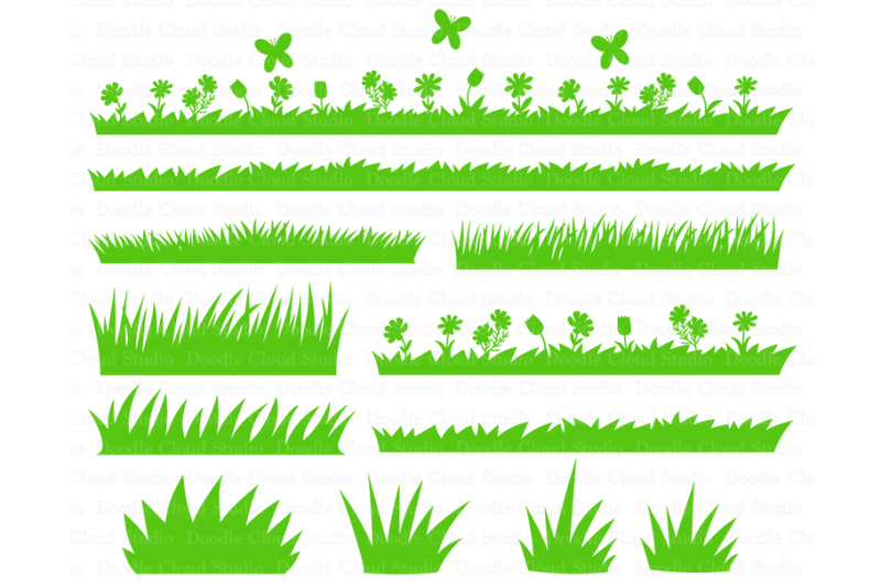 Free Grass SVG, Grass and Flowers SVG Files. Wild grass.