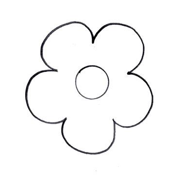 Flower Cut Out Templates.