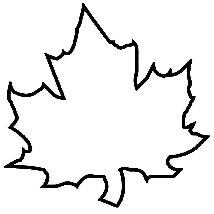 Leaf Cut Out Template.