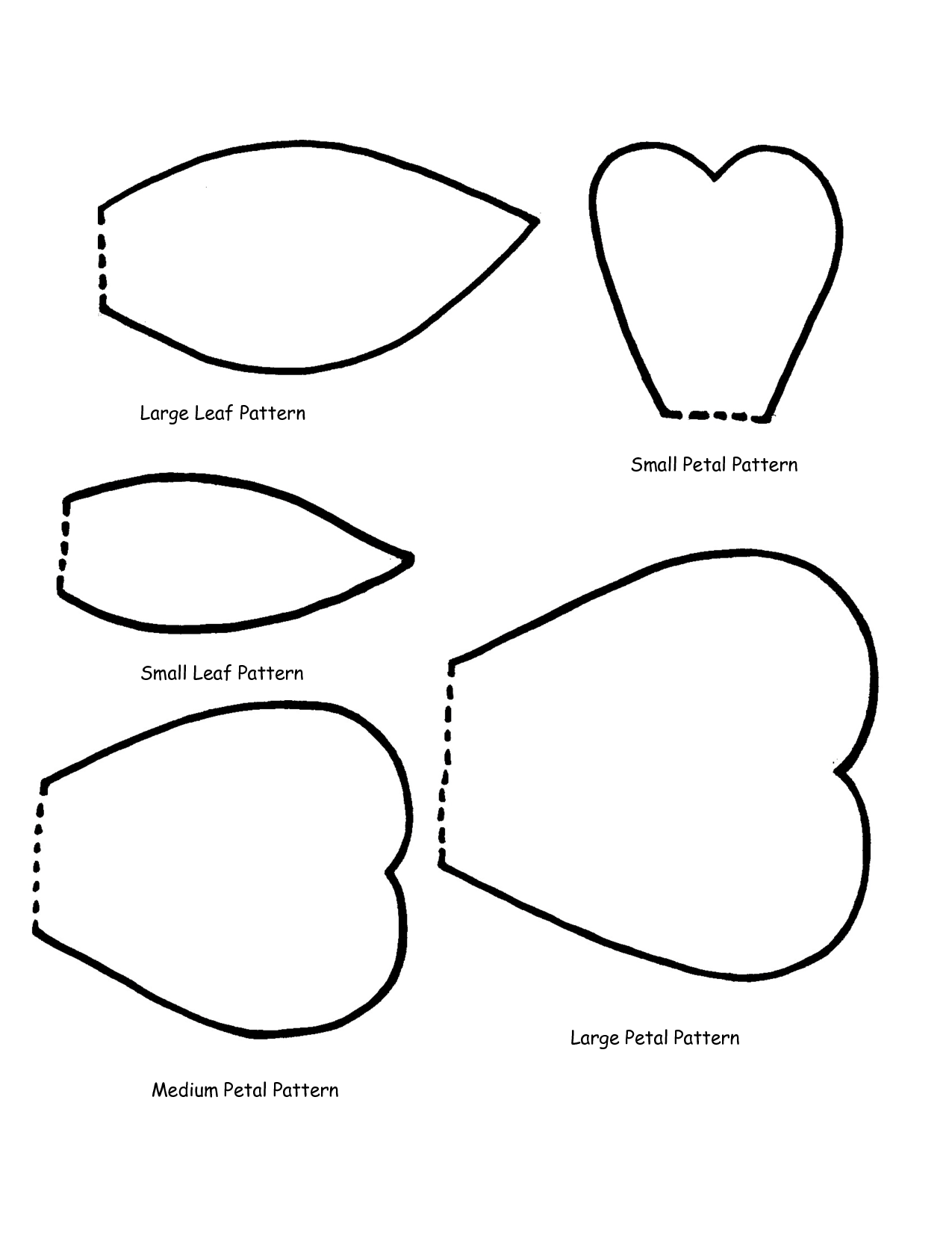 Flower Petal Template Printable.