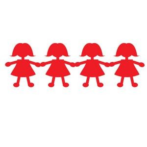 Clip Art Paper Doll Cutouts Clipart.