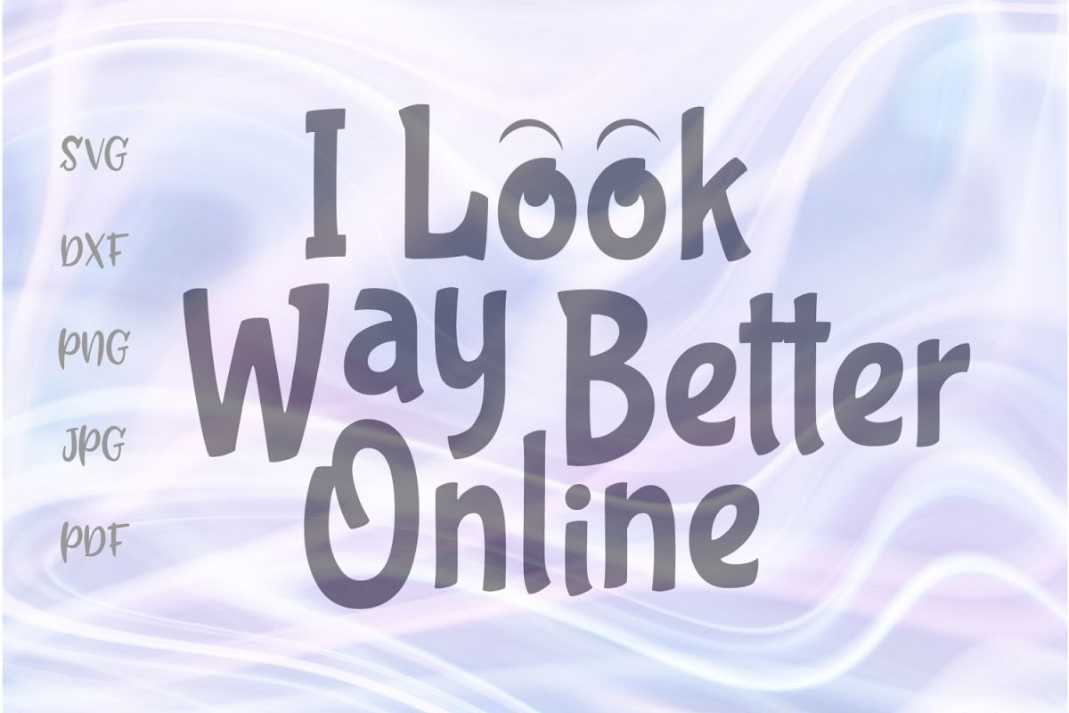 I Look Way Better Online Funny Quote Cut File SVG DXF PNG.