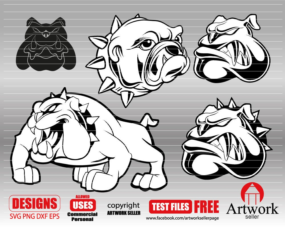 BULLDOG SVG, bulldog clipart, bulldog file, dog svg, animal svg, fience,  clipart, dxf, png, Cricut Files, Silhouette Cut File.