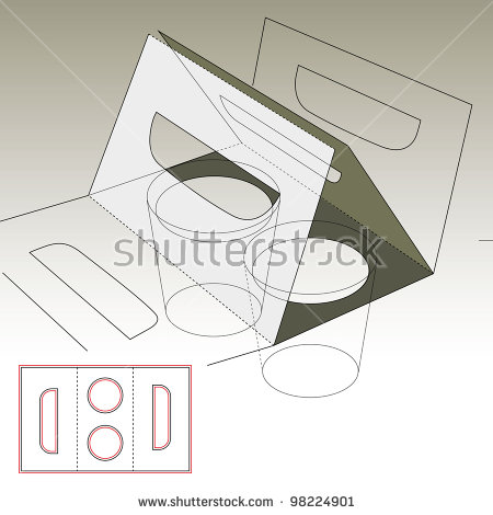 Simple Sleeve Carrying Two Coffee Cups Stock Vector 98224901.