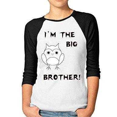 Amazon.com: Owl I Am Big Brother Animal Clipart Paper Cut Women's.