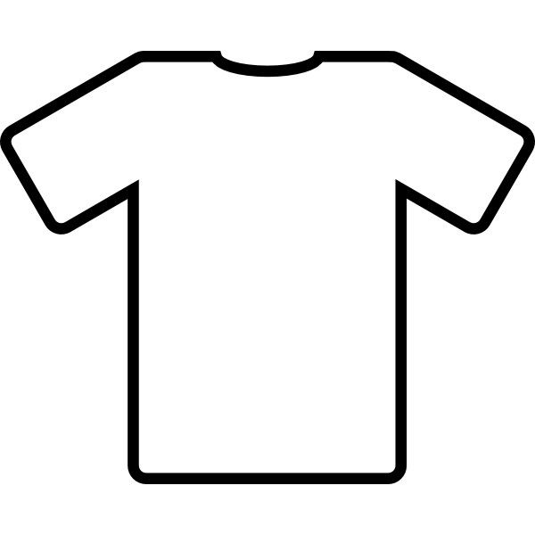 Short sleeve shirts clipart.