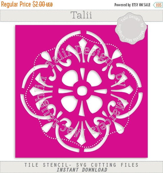 Tile Stencil SVG Cut CLIPART Make your own Stencil by HelloTalii.
