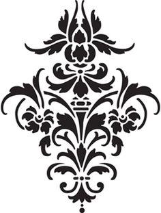 Glass etching stencil of Fleur de Lis. In category: Fleur de Lis.