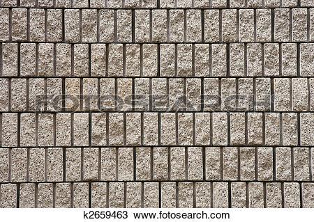 Stock Photo of Cut Stone Block Mason Wall k2659463.