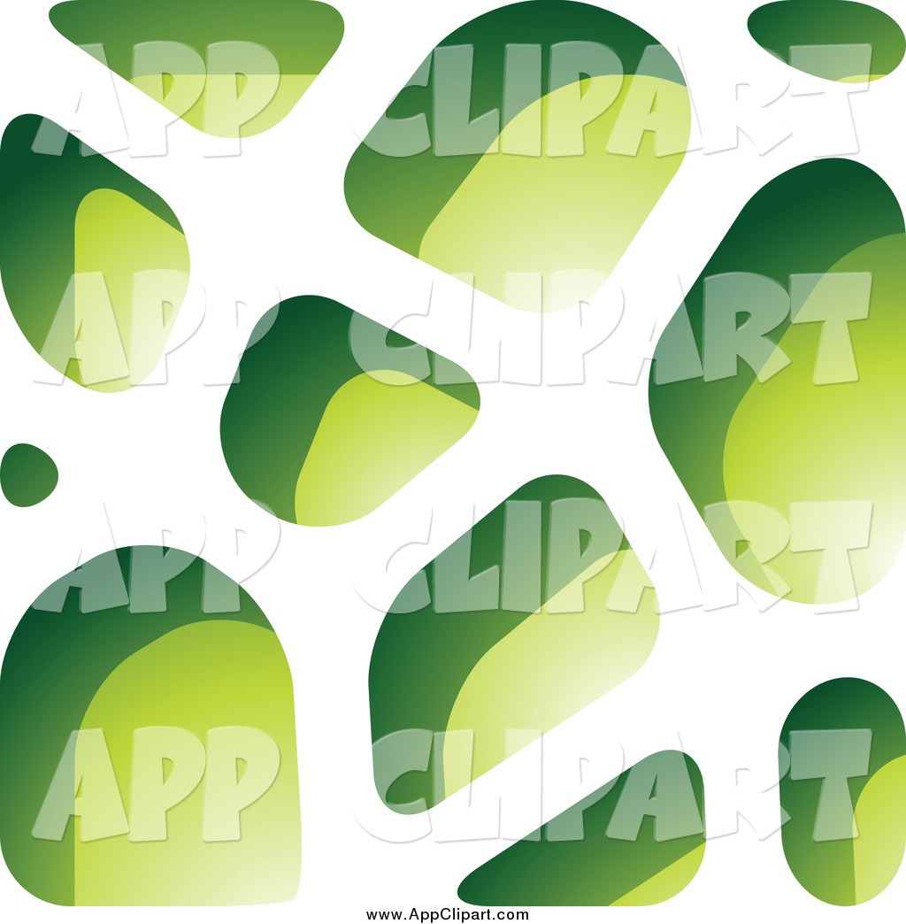 Vector Clip Art of a Green Stone Paper Cut out Design by cidepix.