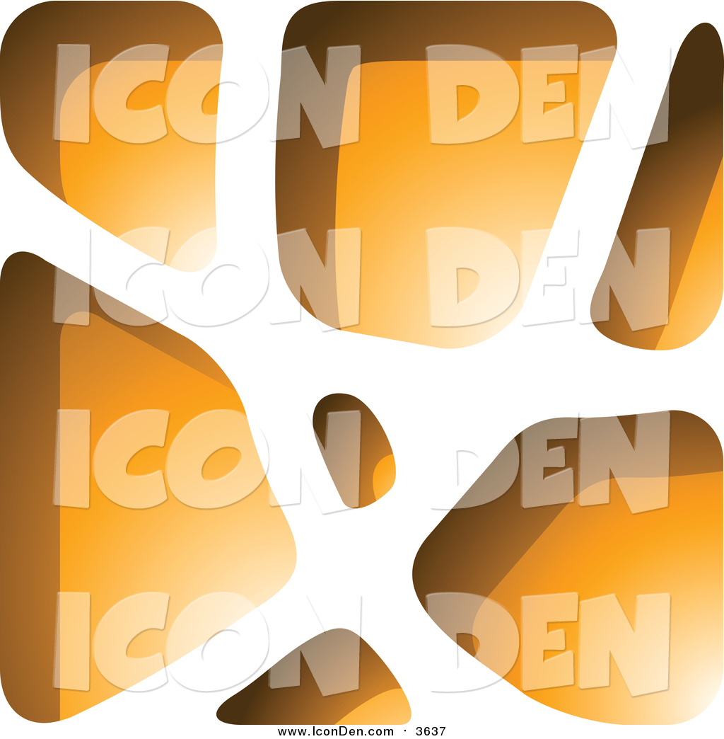Clip Art of a Orange Stone like Paper Cut out Icon by cidepix.