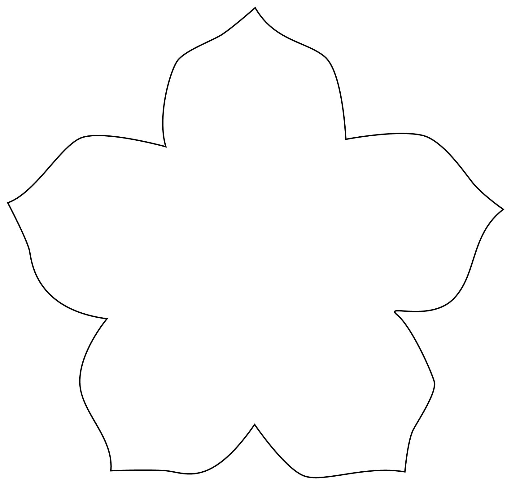 10 Petal Flower Template Demirediffusion