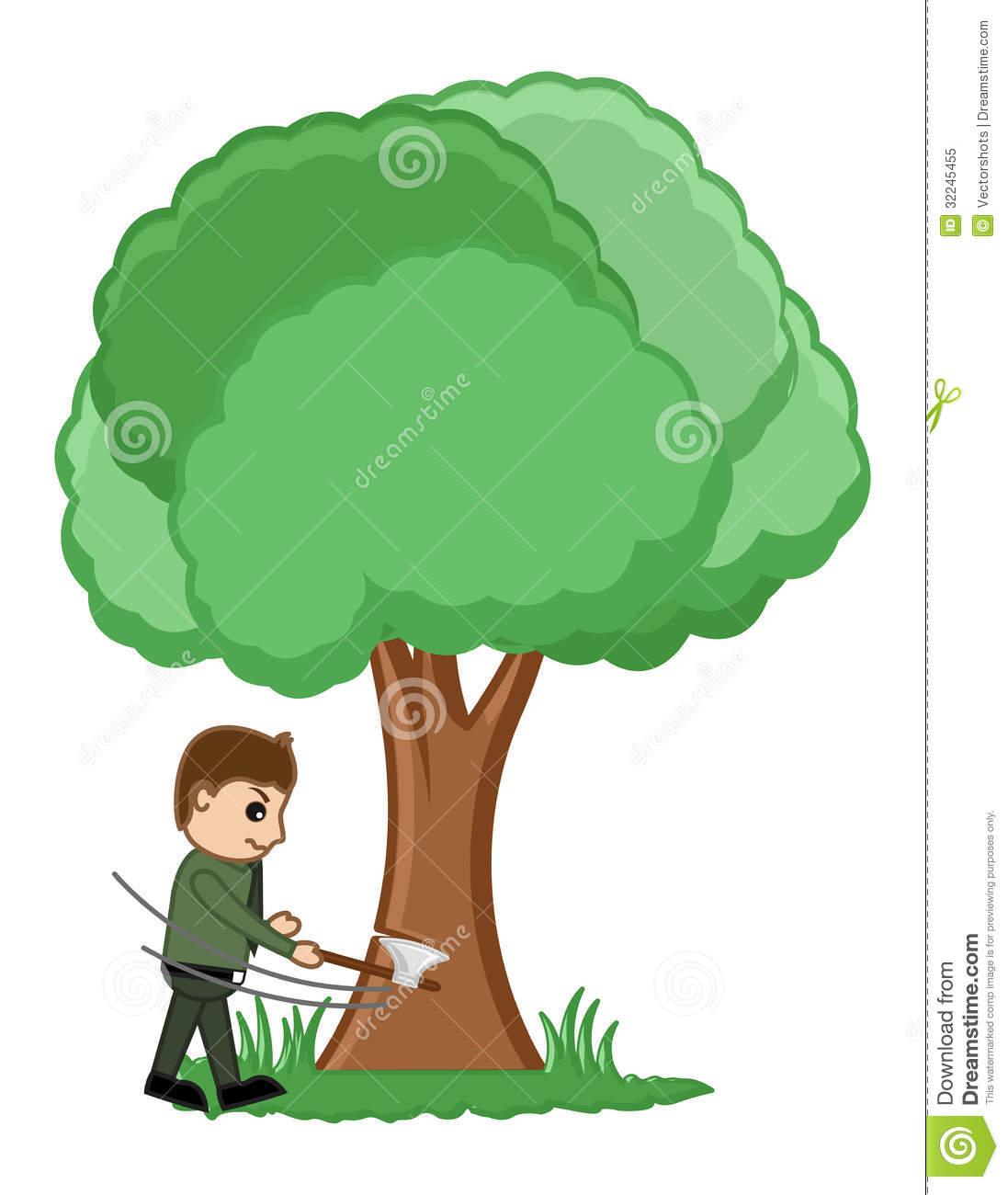 Cut tree clipart.