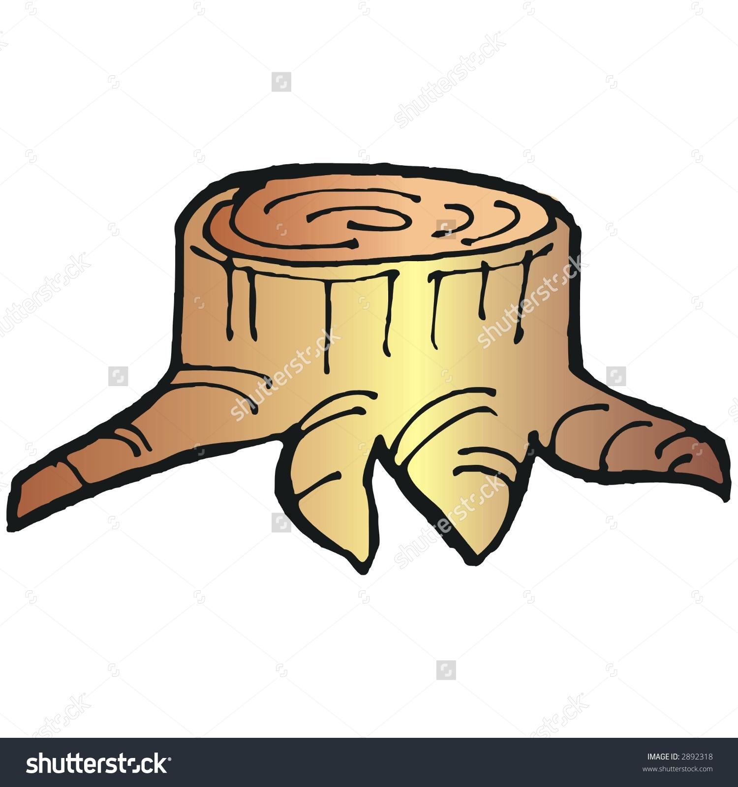 Cut Tree Stock Vector 2892318.