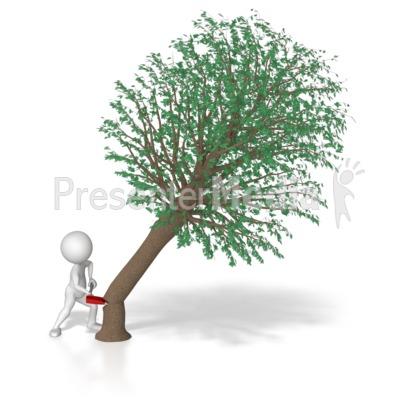 Chop Tree Clipart.