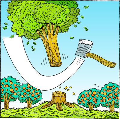 Cut down tree clipart.