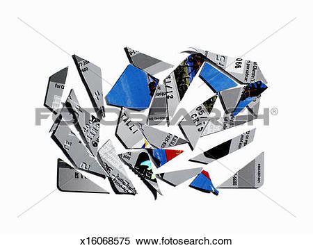 Stock Image of Cut up credit card x16068575.