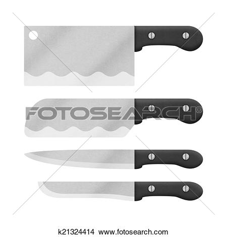 Drawings of knife set for cooking in kitchen is cute cartoon of.