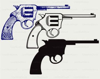 Pistol silhouette.