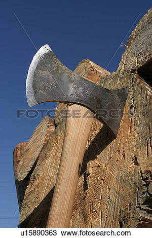 Stock Photo of cut, weapon, chop, axe, hatchet, blade u15890363.
